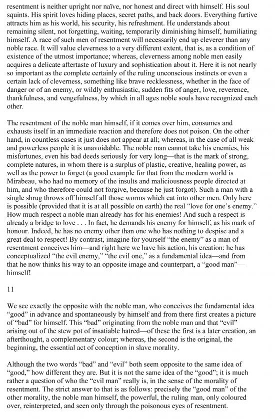nietzsche genealogy morals first essay summary In genealogy of morals, nietzsche had toward the end of his first essay (#16), nietzsche writes, in summary before he can act as a physician he first.